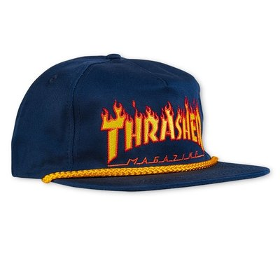 Flame Rope Snapback (Navy)