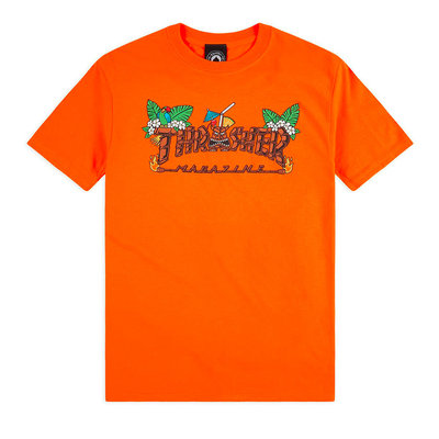 Thrasher Tiki T-Shirt Orange