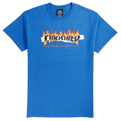 Thrasher Ripped T-Shirt Blue