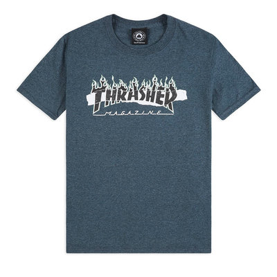 Thrasher Ripped T-Shirt Heather Gray