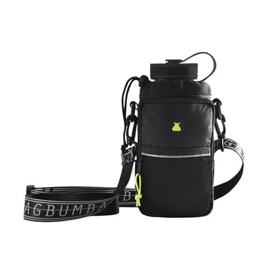 BUMBAG Hi Viz Canteen Shoulder Bottle-Bag in Black
