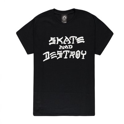 Thrasher Skate & Destroy Tee Black