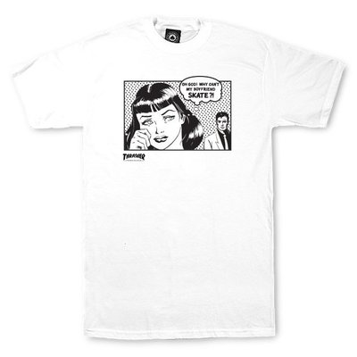 Thrasher Boyfriend T-Shirt White