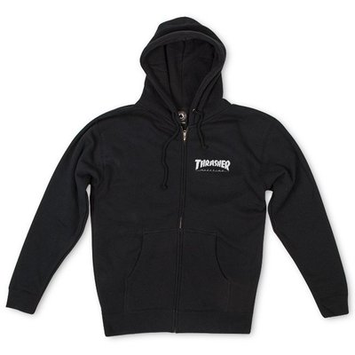 Thrasher Logo Zip Hood BLack