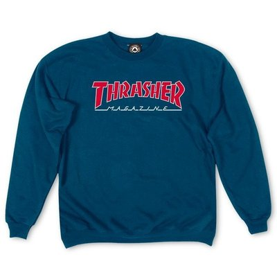 Thrasher Outlined Crewneck Navy