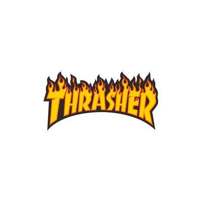 Thrasher Flame Logo Sticker Medium