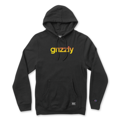 Grizzly Lowercase Fadeaway Champion Hoodie Black