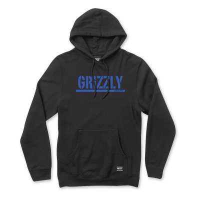 Grizzly Stamp Hoodie Black / Royal