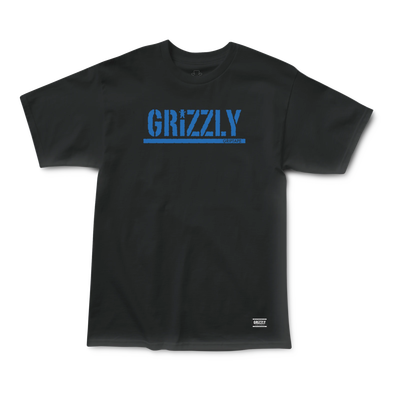 Grizzly Stamp T-Shirt Black/Royal