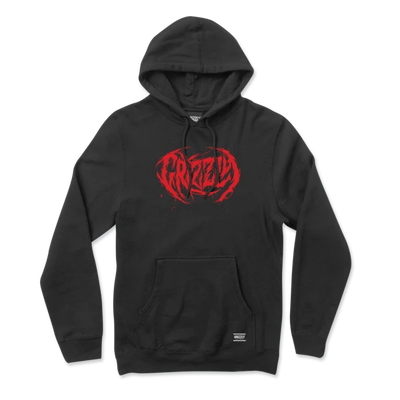 Grizzly Metal Core Embroidered Hoodie Black