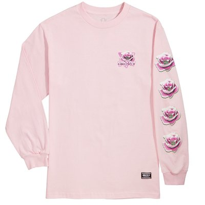 Grizzly Chrome Rose Long Sleeve Pink