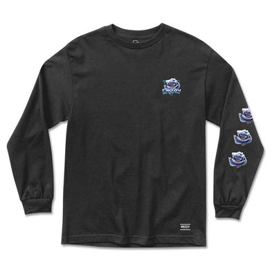 Grizzly Chrome Rose Long Sleeve Black