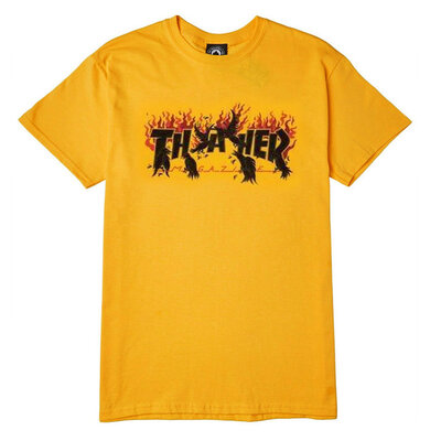 Thrasher Crows T-Shirt Yellow