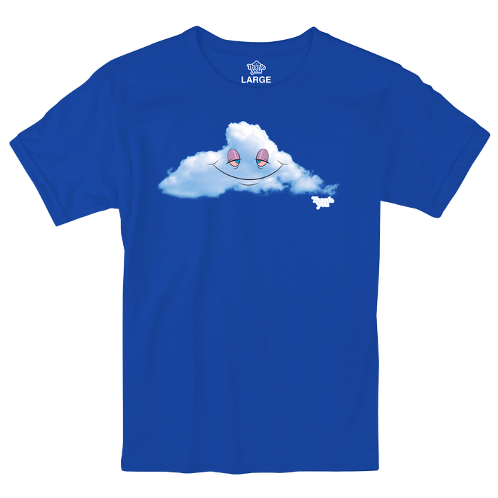 Thank You Head In The Clouds Tee blue