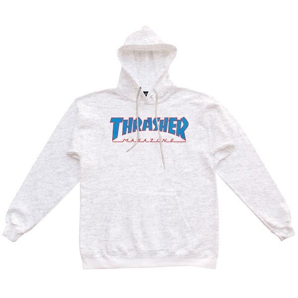 Thrasher Outlined  Hoodie ( Ash Grаy )